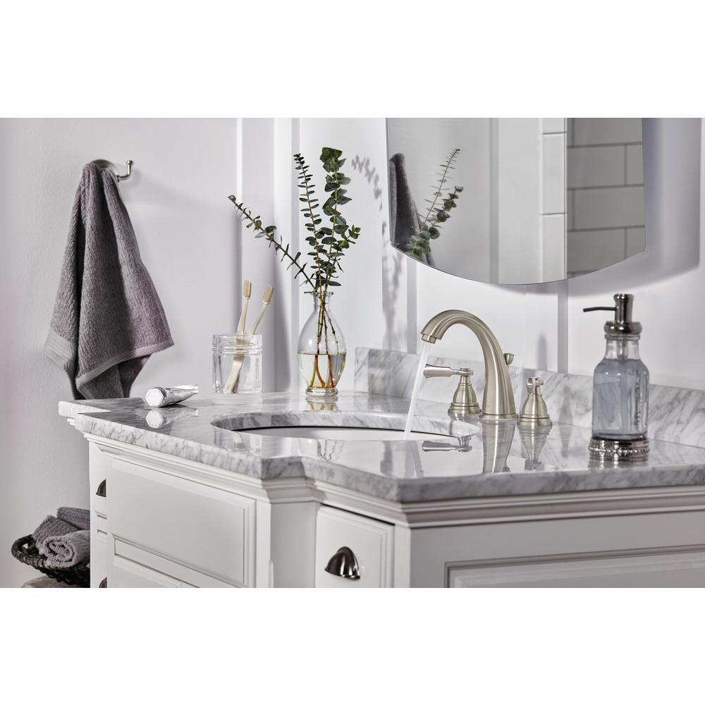 Elmhurst 8 in. Widespread 2-Handle Bathroom Faucet in Brushed Nickel