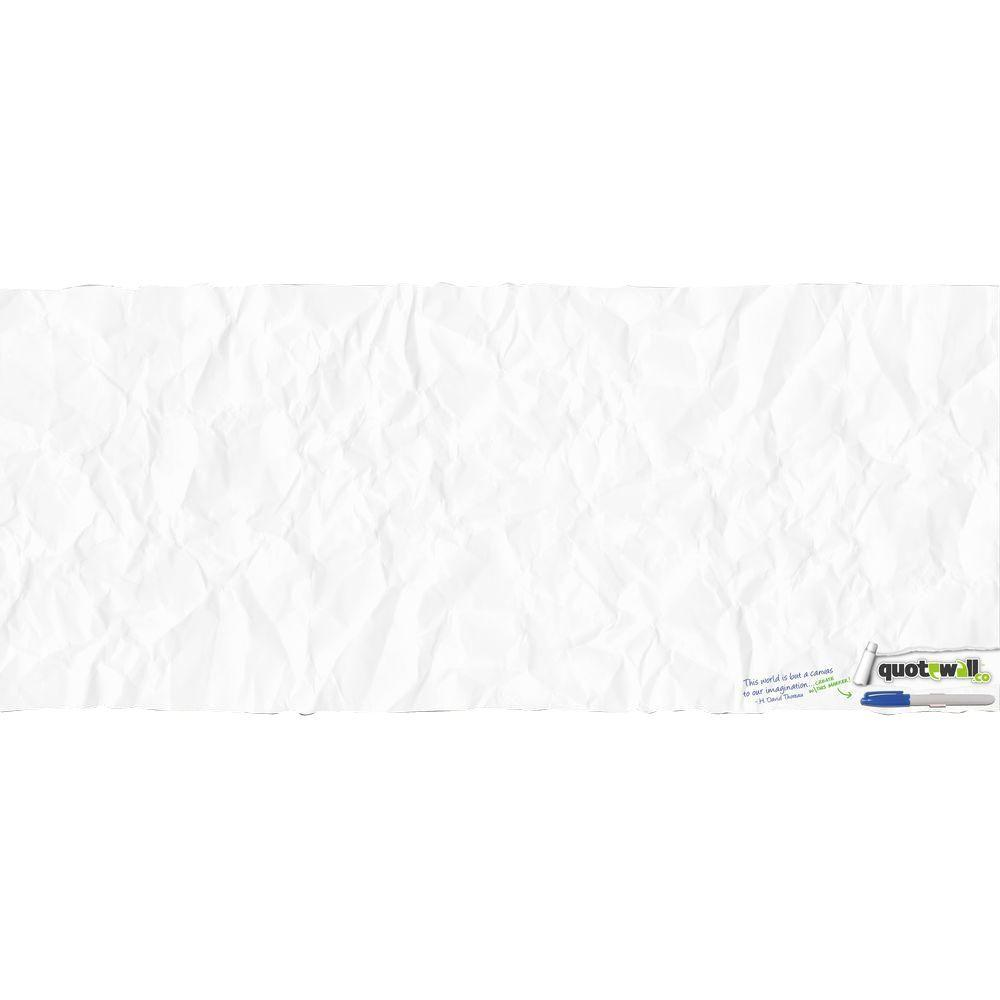 null 18 in. x 40 in. Quotewall - Crumbled Peel and Stick Giant Wall Decals