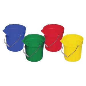 Genuine Joe 2.5 Gal. Utility Buckets (4-Pack) by Genuine Joe