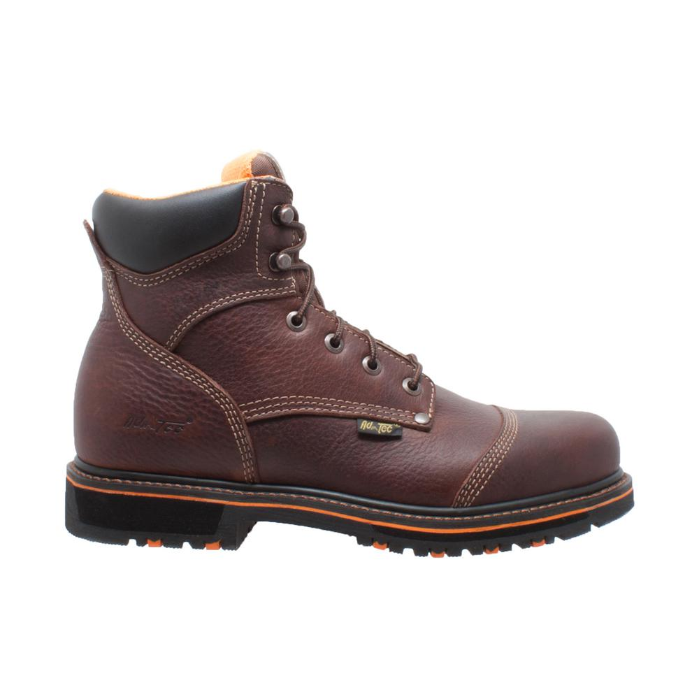 d9ad8ea397d AdTec Men's Size 8 Dark Brown Tumbled Leather 6 in. Comfort Work Boots