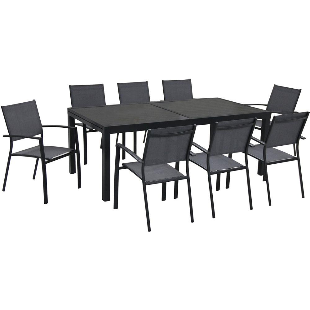 Hanover Naples 9 Piece Rectangular Patio Dining Set