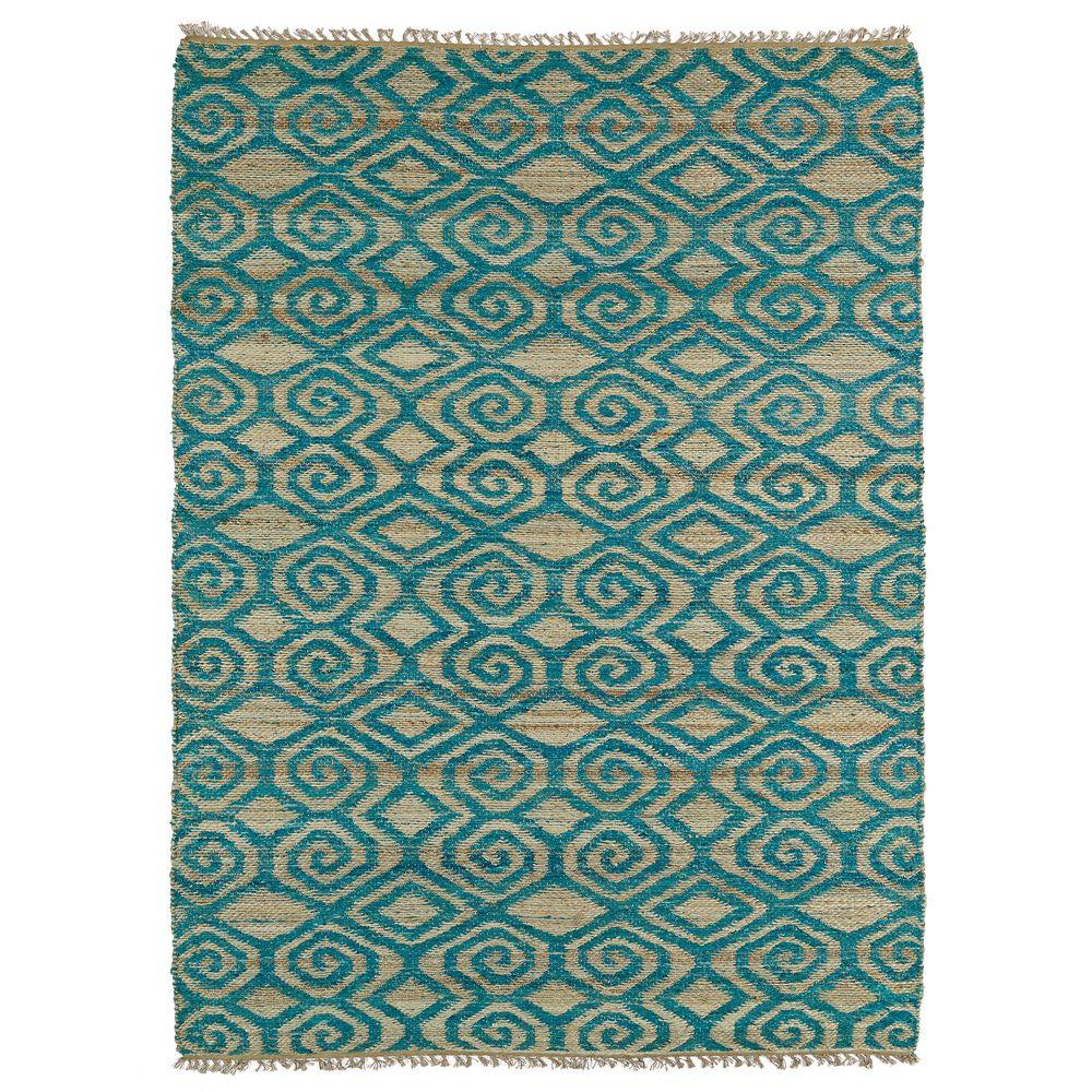 Kaleen Kenwood Teal 5 Ft. X 7 Ft. 9 In. Double Sided Area