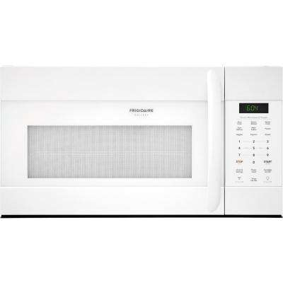 1.7 cu. ft. Over the Range Microwave in White with Sensor Cooking