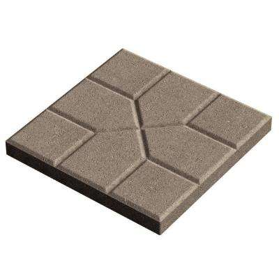 15.75 in. x 15.75 in. x 1.75 in. Gray Concrete Step Stone