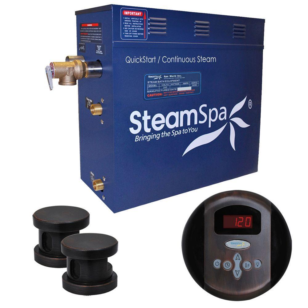 SteamSpa Oasis 10.5kW Steam Bath Generator Package in Oil Rubbed Bronze