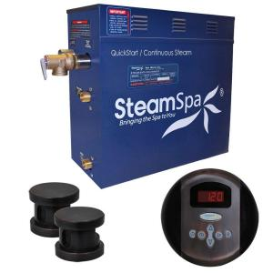 SteamSpa Oasis 10.5kW Steam Bath Generator Package in Oil Rubbed Bronze by SteamSpa