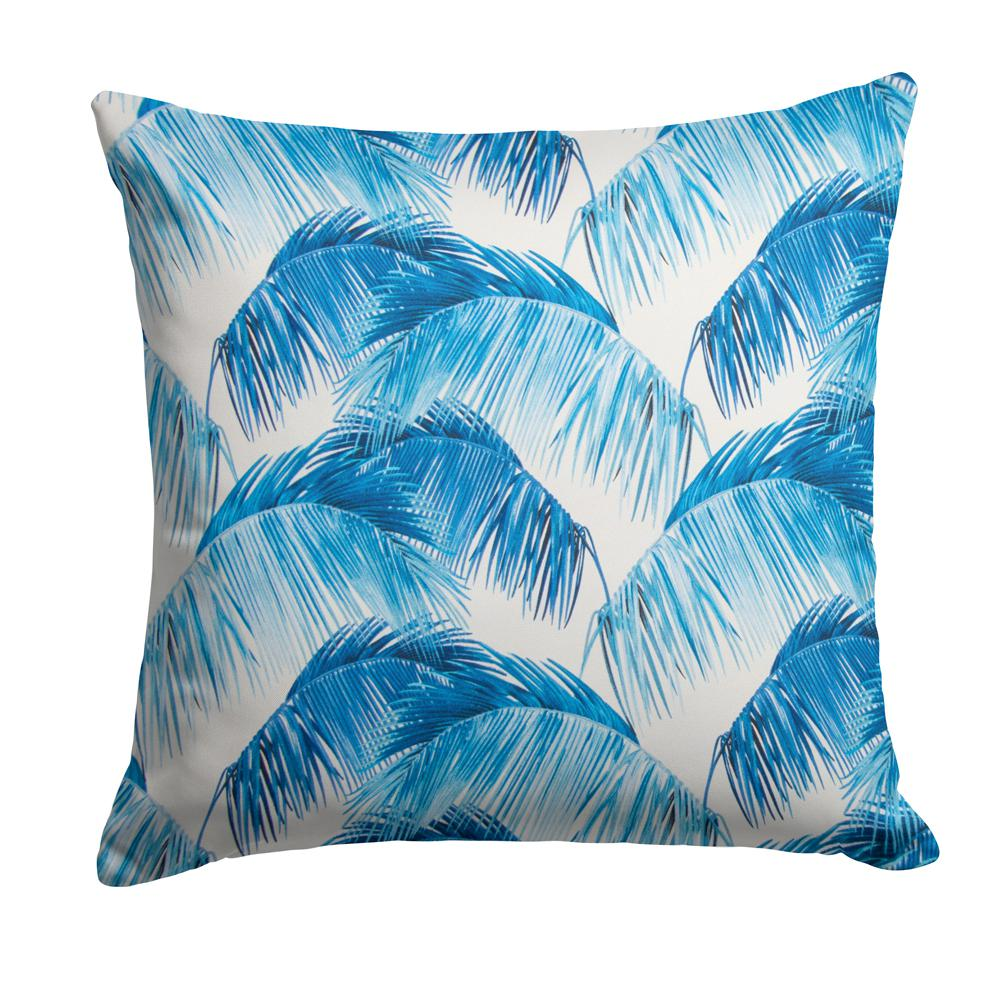 Grouchy Goose Tahitian Navy Square Outdoor Throw Pillow