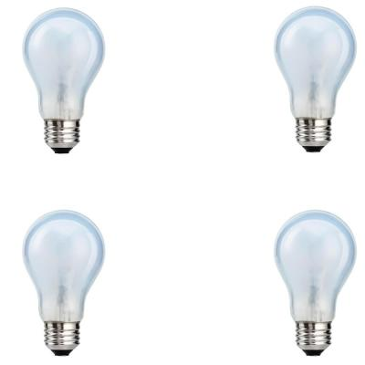 100-Watt Equivalent A19 Dimmable Eco-Incandescent Light Bulb Soft White (4-Pack)