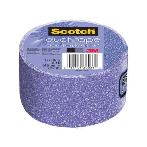3M Scotch 1.88 inch x 8 yds. Violet Purple Glitter Duct Tape (Case of 6) by 3M