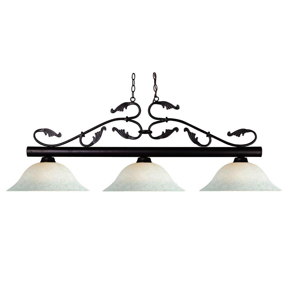 Filament Design Lawrence 3-Light Bronze Incandescent Ceiling Island Pendant