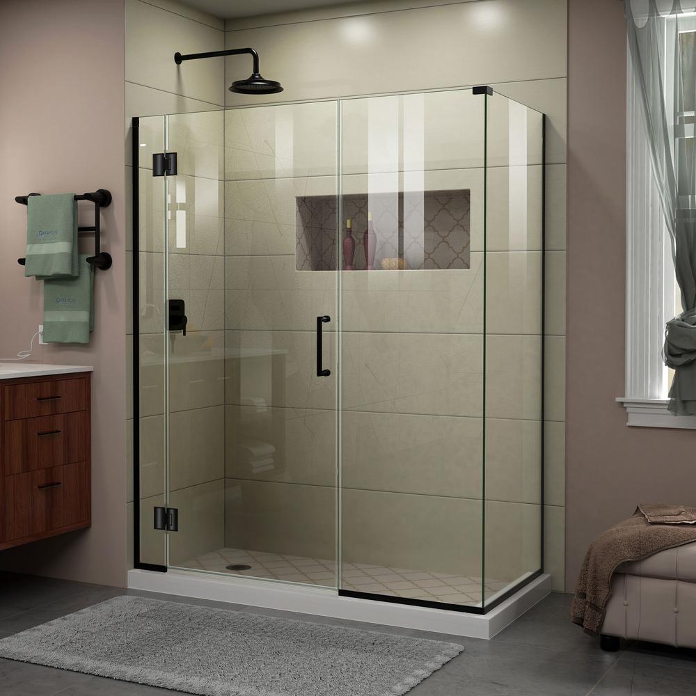 DreamLine Unidoor-X 58.5 in. x 72 in. Frameless Corner Hinge Shower ...