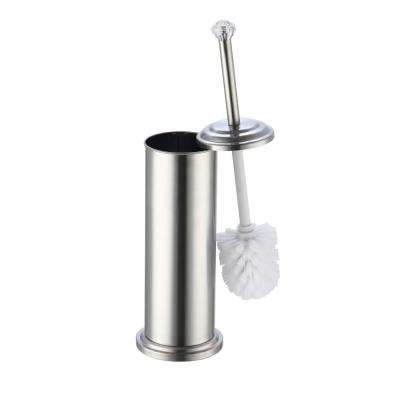 Diamond Top Stainless Steel Toilet Brush Holder