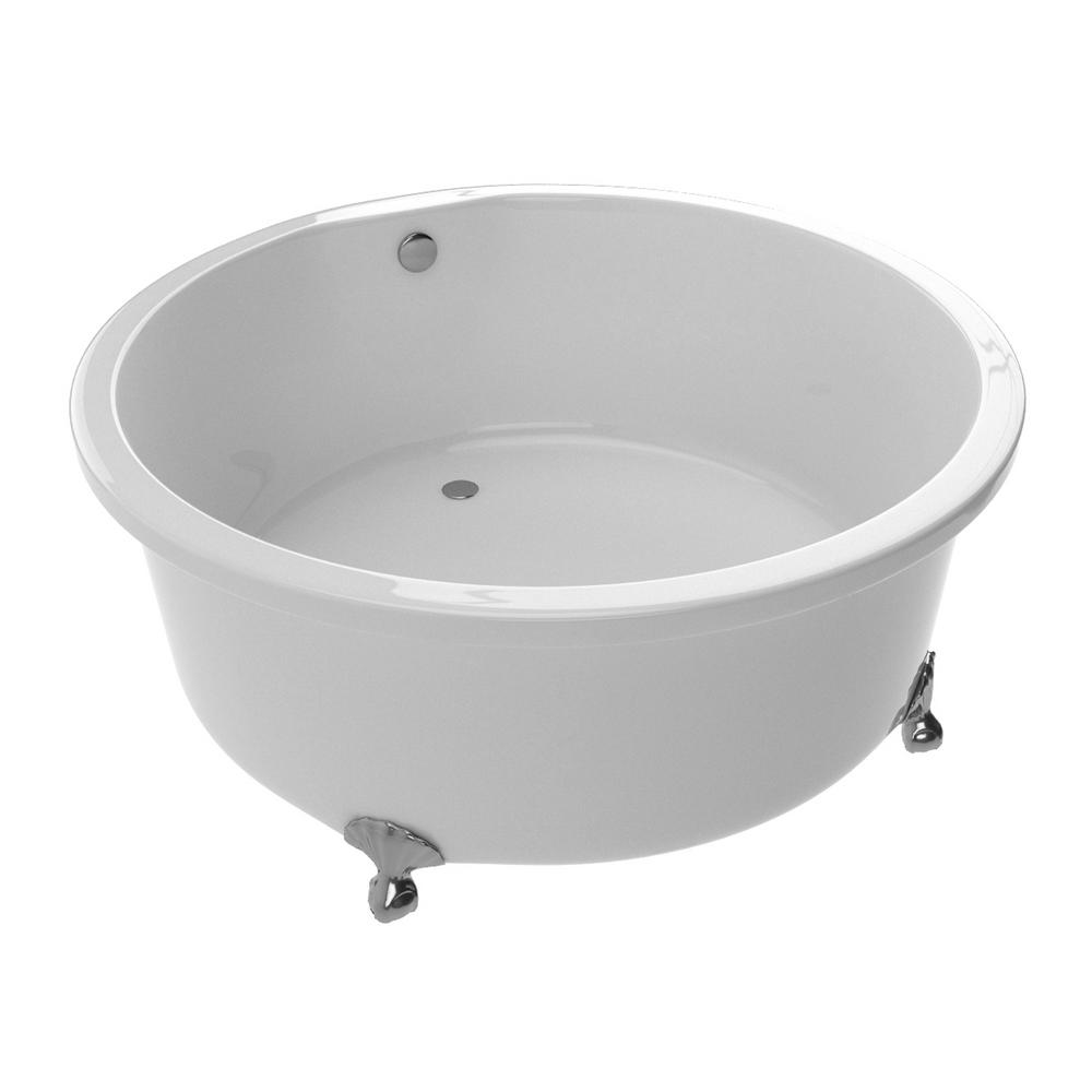 ANZZI Cantor Series 4.9 ft. Acrylic Clawfoot Non-Whirlpool Bathtub ...