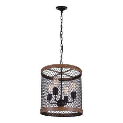 Torres 4-Light Black Chandelier