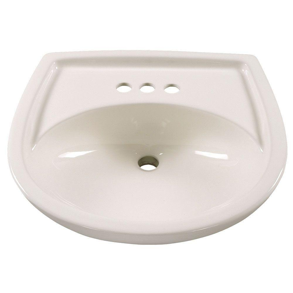 american standard hydra 55 in pedestal sink basin in white