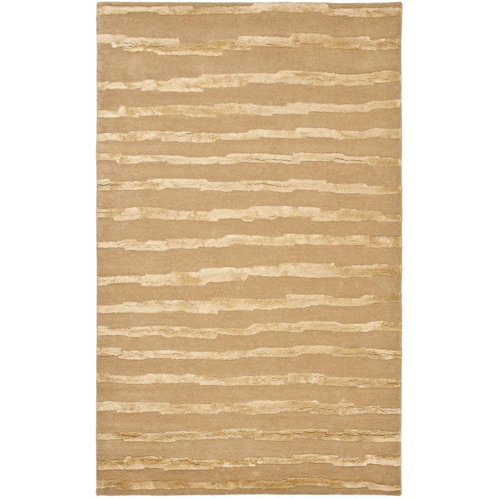 Soho Beige/Gold 3 ft. 6 in. x 5 ft. 6 in.