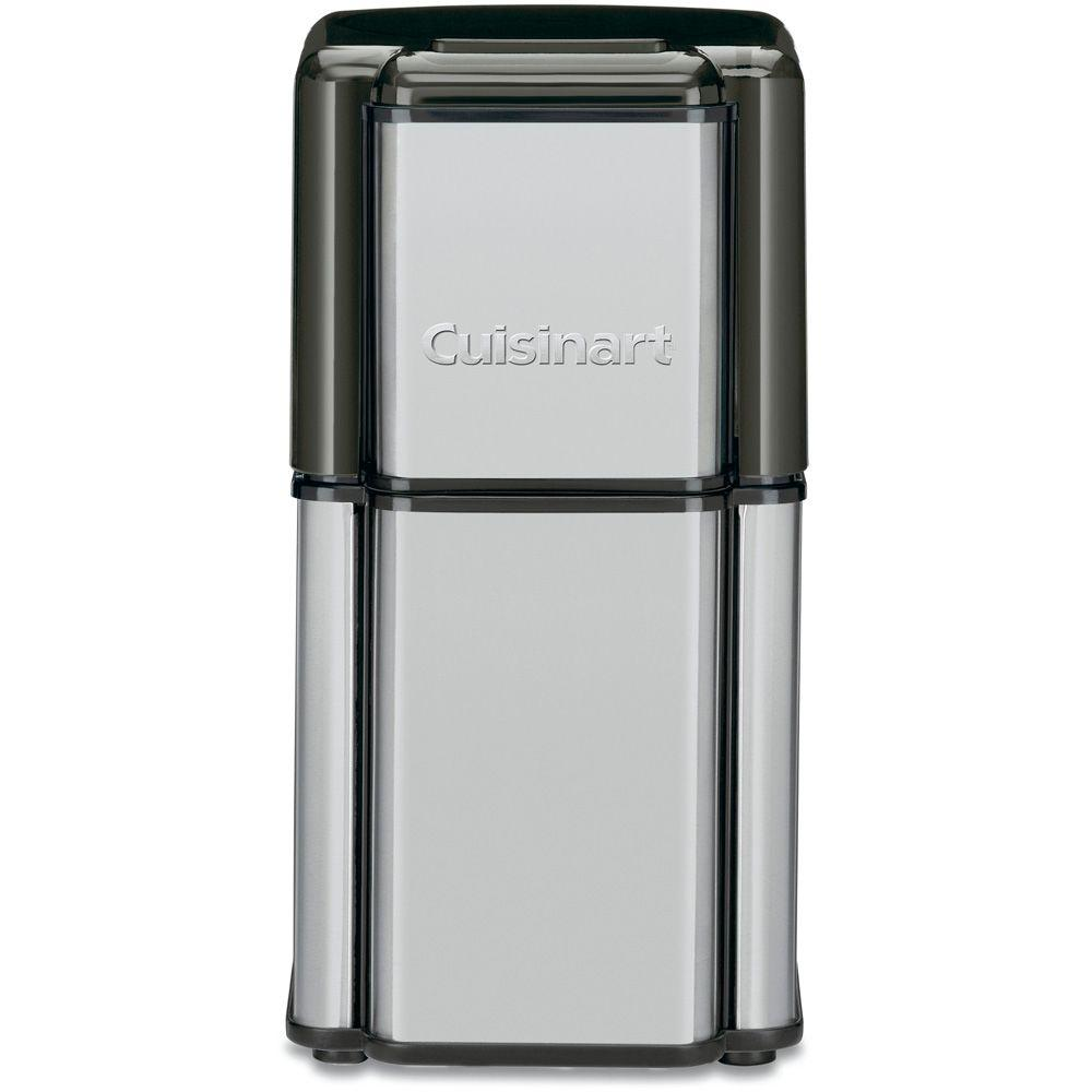 Grind Central 3 oz. Coffee Grinder, Brushed Stainless Steel The Cuisinart DCG-12BC Grind Central Coffee Grinder features a brushed stainless steel housing, and removable stainless bowl and blade assembly. With a 90-gram capacity and measurement markings, you can efficiently measure and grind the exact quantity of coffee beans you need - for up to 18 cups at once. Get the full body and rich taste of fresh-ground coffee everyday with the sleek Grind Central coffee grinder.