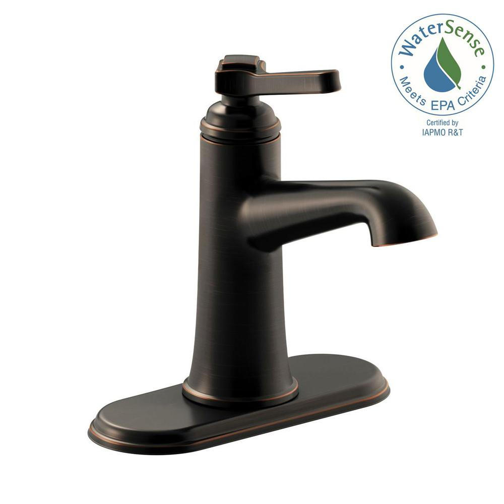 Kohler Georgeson Single Hole Handle Water Saving Bathroom Faucet In Oil Rubbed Bronze