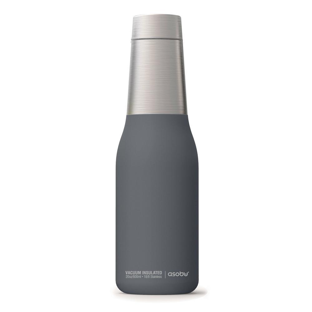 d3b910996a ASOBU Oasis 20 oz. Gray Water Bottle SBV23GREY - The Home Depot