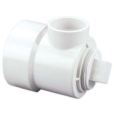 1-1/2 in. x 3 in. x 6 in. PVC DWV Hub x Hub x Cleanout Swivel Drum Trap