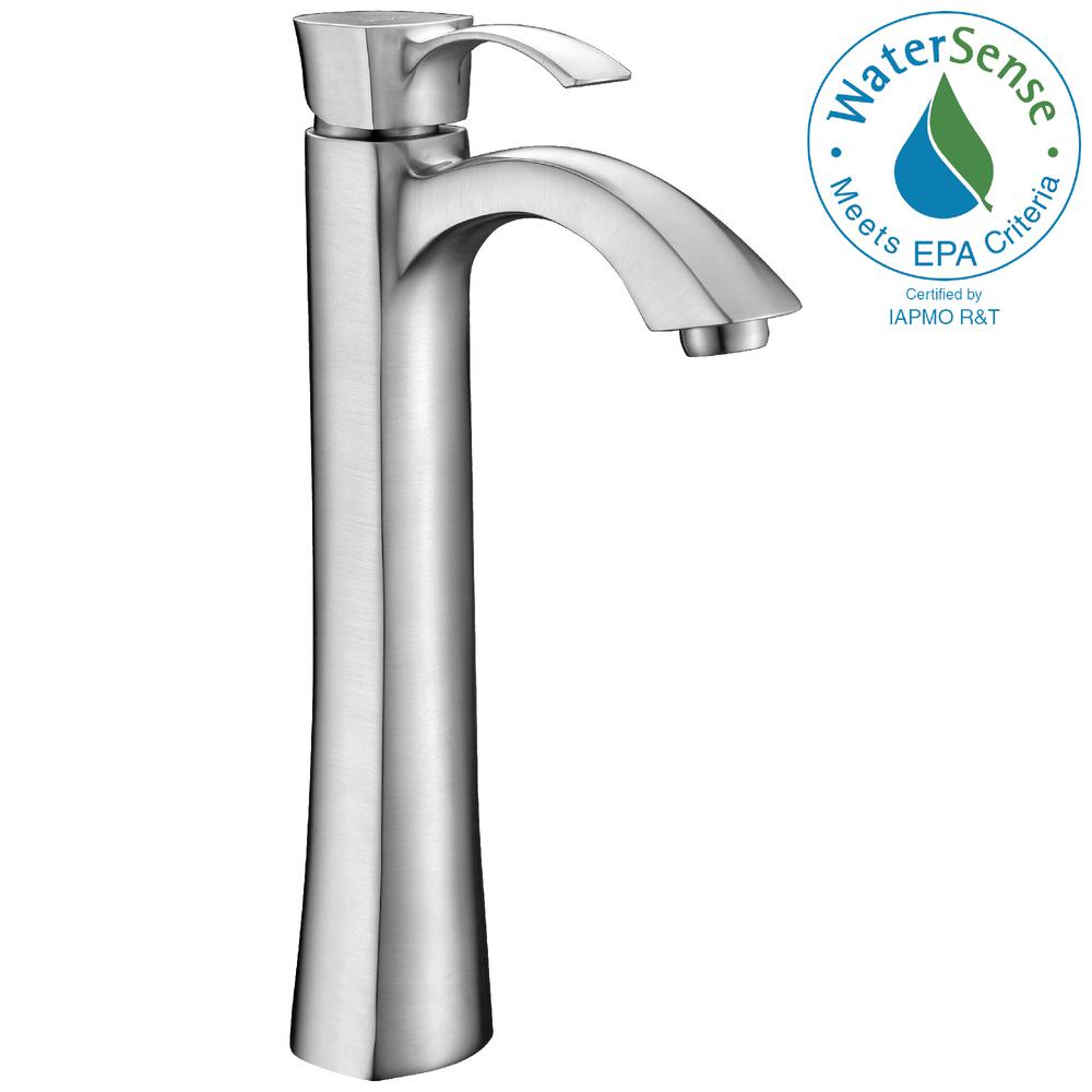 ANZZI Harmony Series Single Hole Single-Handle Vessel Bathroom Faucet in Brushed Nickel
