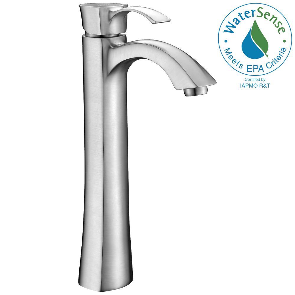 Harmony Series Single Hole Single-Handle Vessel Bathroom Faucet in Brushed Nickel