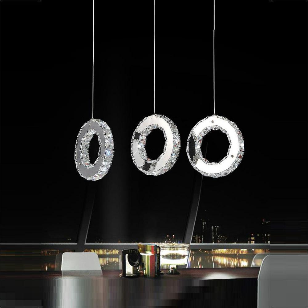 Ring 1-Watt Chrome Integrated LED Chandelier
