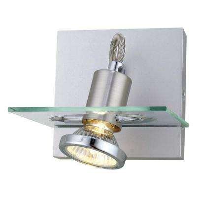 Focus Collection 1-Light Matte Nickel Flushmount Sconce