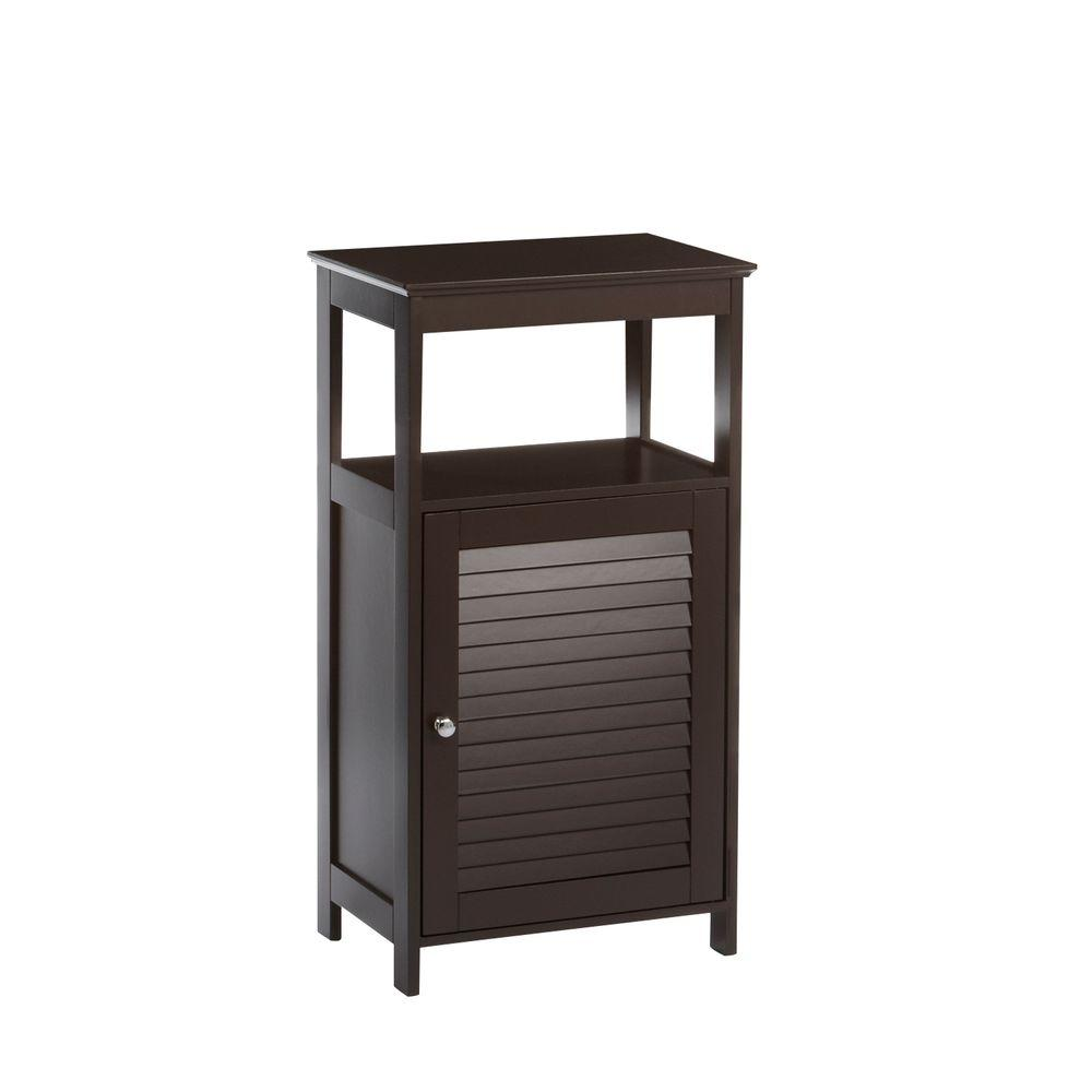 RiverRidge Home Ellsworth 18 in. W x 32-17/25 in. H x 11-4/5 in. D Bathroom Linen Storage Floor Cabinet in Espresso