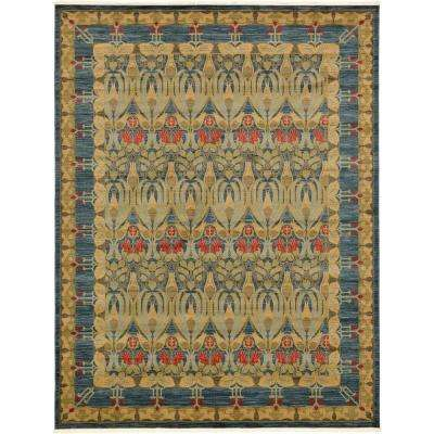 Heritage Navy Blue 10 ft. x 13 ft. Area Rug