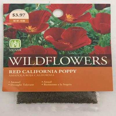 Red Poppy California Seed