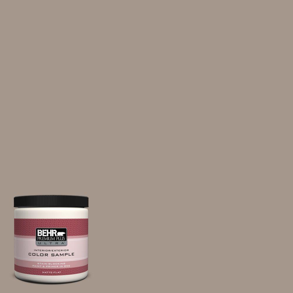 BEHR Premium Plus Ultra 8 oz. #N220-4 Shiitake Matte Interior/Exterior Paint and Primer in One Sample