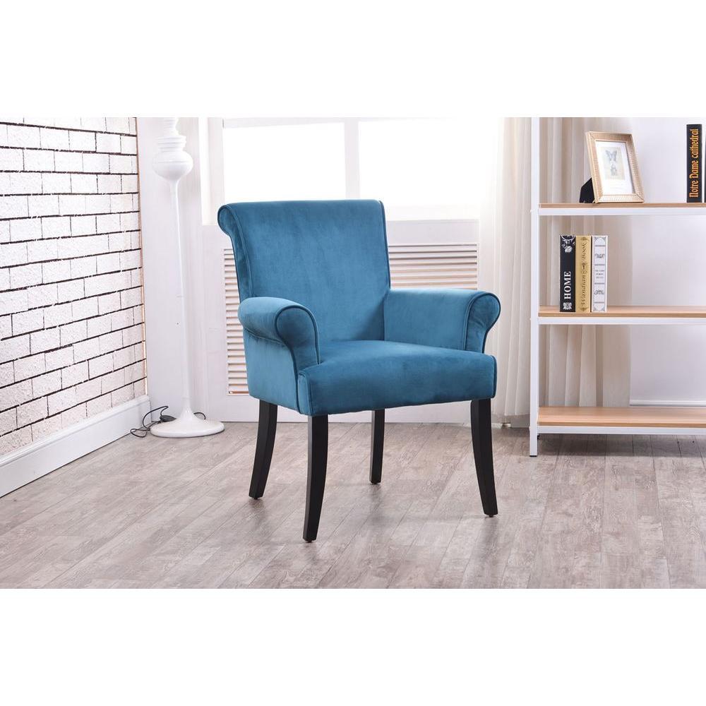 Home Accents Furniture: Linon Home Decor Calla Dark Blue Microfiber Arm Chair