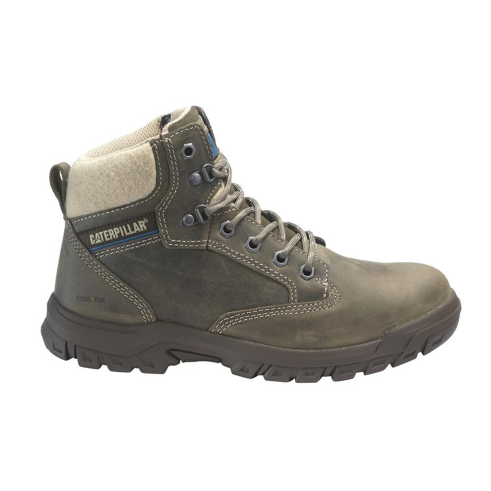 835c613a280 CAT Footwear Women's Size 10 Dark Gull Grey Grain Leather Tees Steel Toe  Work Boots
