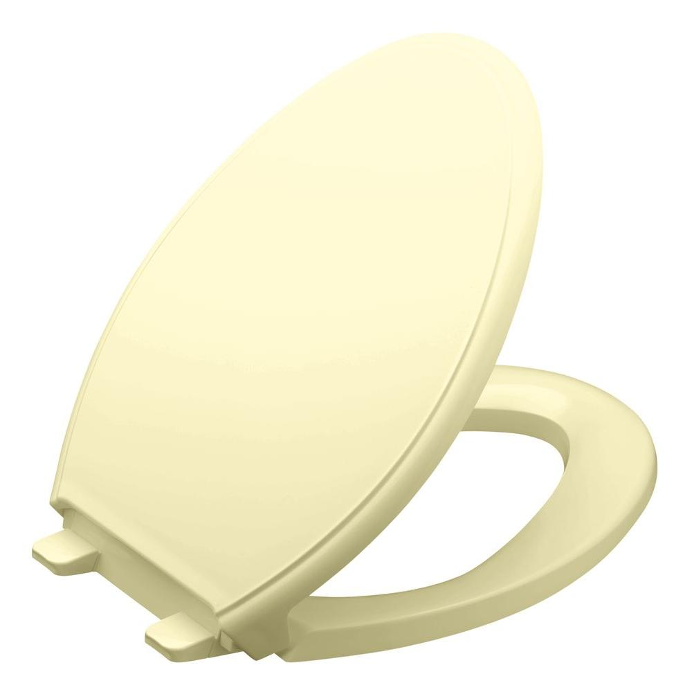 KOHLER Glenbury Elongated Toilet Seat with Q3 Advantage in Sunlight-DISCONTINUED