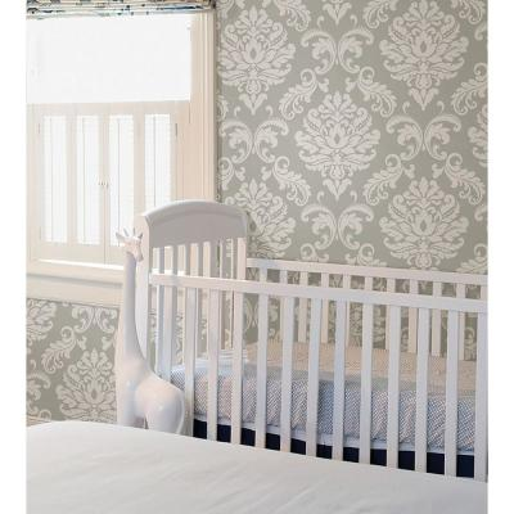 Grey Ariel Peel and Stick Wallpaper Sample