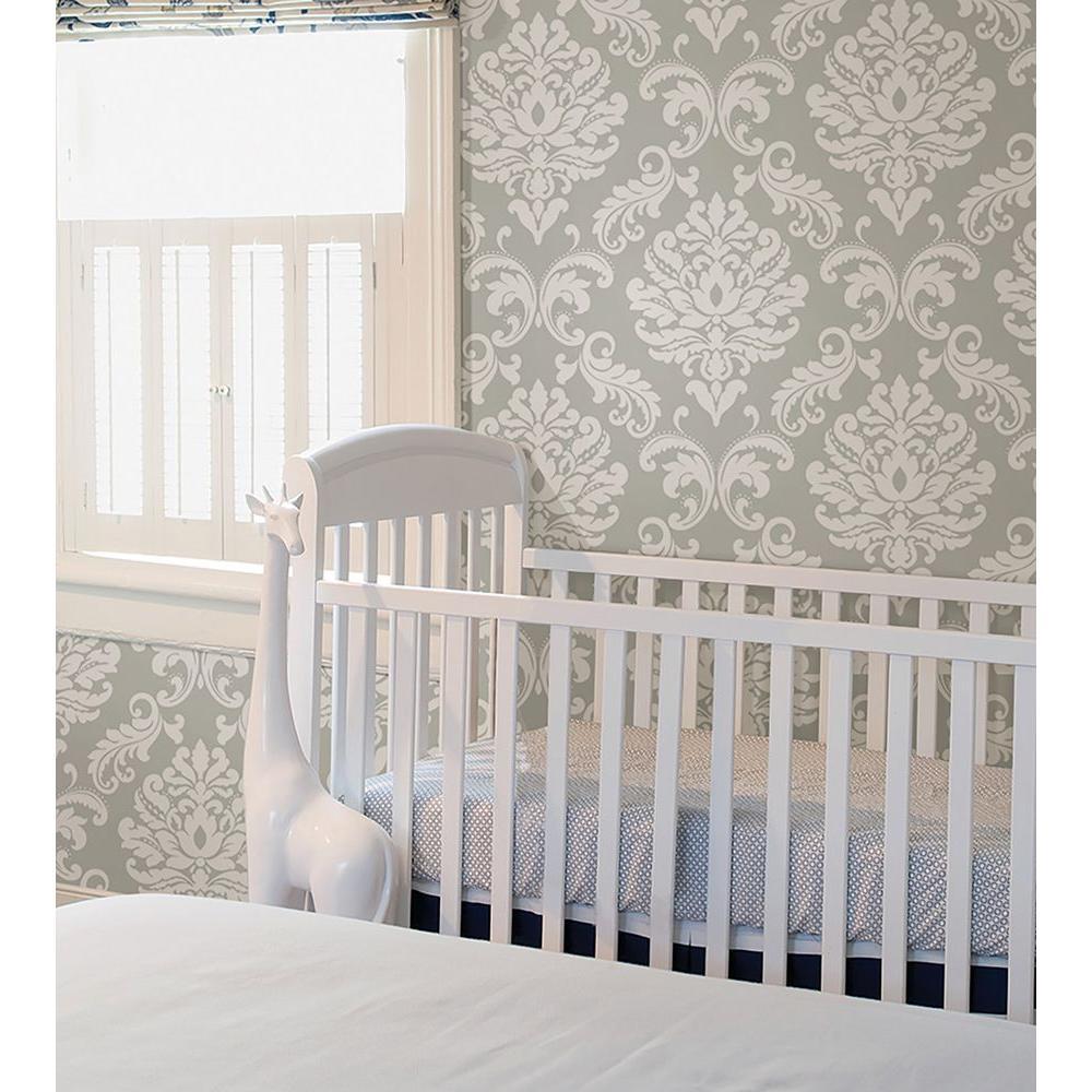 NuWallpaper Grey Ariel Peel and Stick Wallpaper Sample ...