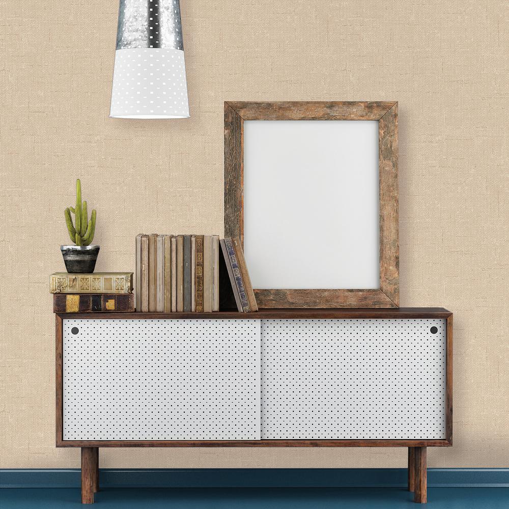 Burlap Natural Self-Adhesive Removable Wallpaper