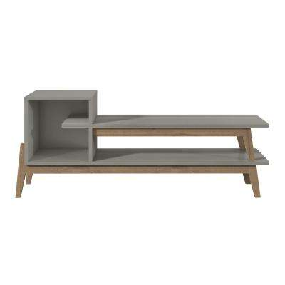 Essence 73.82 in. Gray and Oak TV Stand