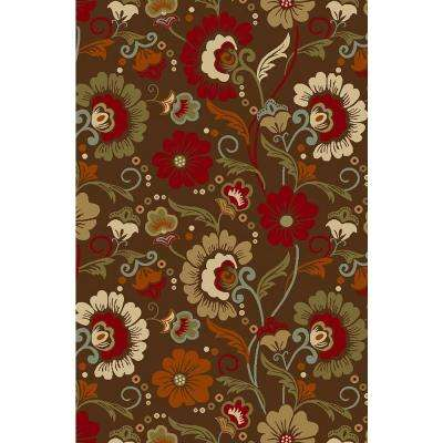 Hamam Collection Multi 5 ft. x 7 ft. Rubber Back Area Rug