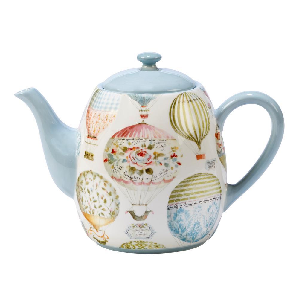 Beautiful Romance 5-Cup Multi-Colored Teapot