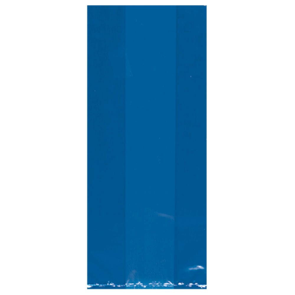 11.5 in. x 5 in. Bright Royal Blue Cellophane Party Bags
