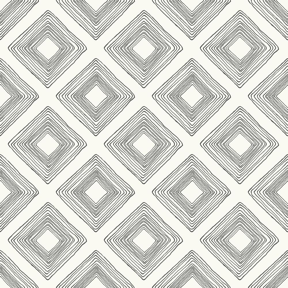 Magnolia Home by Joanna Gaines 56 sq.ft. Diamond Sketch Wallpaper