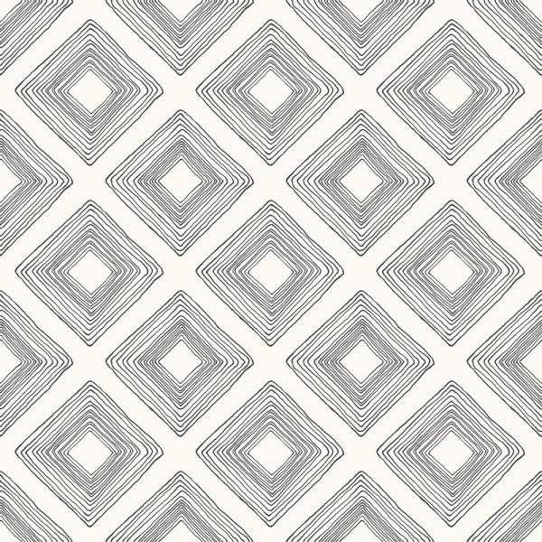 Magnolia Home by Joanna Gaines 56 sq.ft. Diamond Sketch Wallpaper ME1579