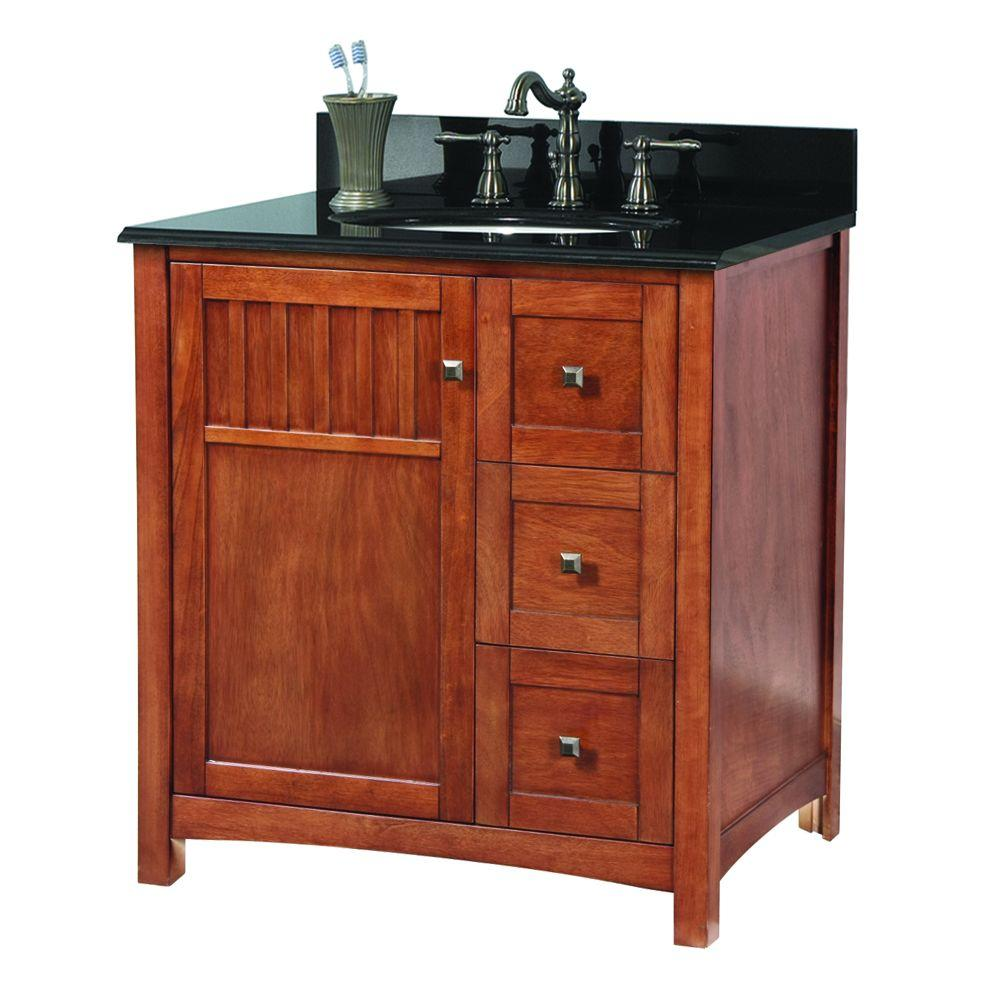Knoxville 31 in. W x 22 in. D Vanity in Nutmeg
