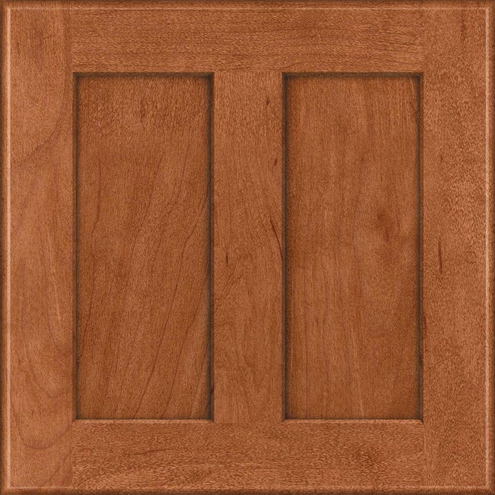 15x15 in. Cabinet Door Sample in Hamilton Maple in Cinnamon