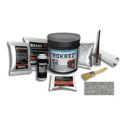 115 oz. Gray Gloss 1 Car Garage DIY Industrial Epoxy Floor Kit 2 Component 100% Solids All-In-One System