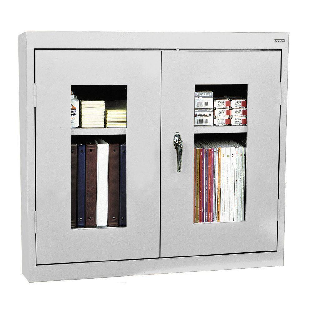 26 in. H x 30 in. W x 12 in. D Clear View Wall Cabinet in Dove Gray