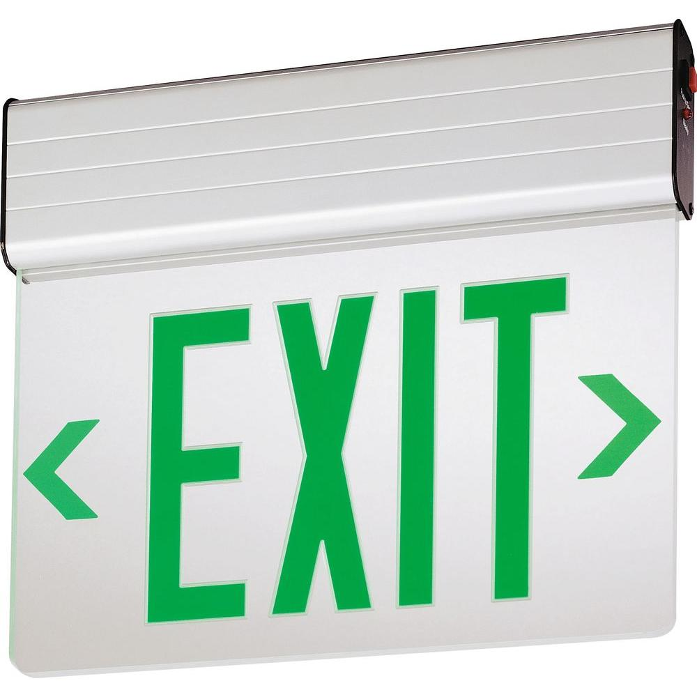 EDG Aluminum LED Green Emergency Exit Sign