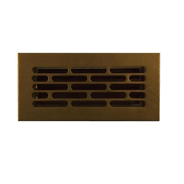 Vogue 10 in. x 4 in. Oil Rubbed Bronze/Powder Coat, floor wall or ceiling supply vent, Without Mounting Holes